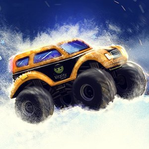 Spiel Monster Truck Winter Jumps