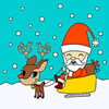 Spiel Santa Claus on a Sleigh Coloring