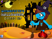 Spiel Smurfette's Halloween Dress Up